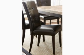 Monarch Cordovan Dark Cherry Parsons Chair Set of 2