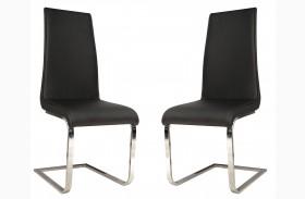 Regis Milo Black Dining Chair Set of 2