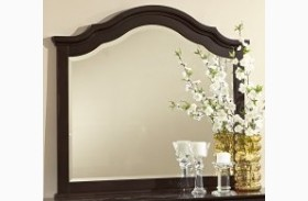 French Market Antique Merlot Youth Arched Mirror