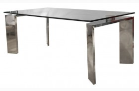 Ritz Mo Stainless Steel Fixed Rectangular Leg Dining Table