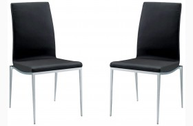 Monique Black Stackable Dining Chair Set of 2