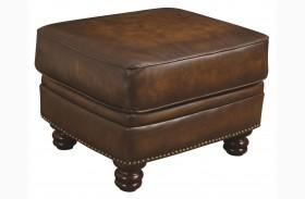Montbrook Leather Ottoman