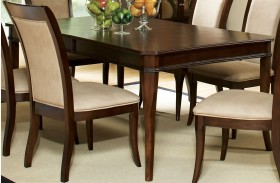 Marseille Merlot Cherry Extendable Rectangular Dining Table