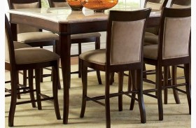Marseille Merlot Cherry Square Counter Height Dining Table