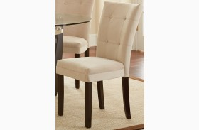 Matinee Beige Parsons Chair Set of 2