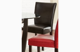 Matinee Black Bonded Leather Chair Set of 2