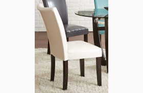 Matinee White Bonded Leather Chair Set of 2