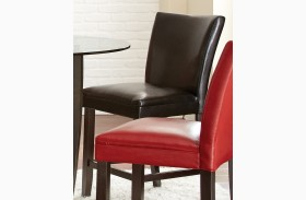 Matinee Black Bonded Leather Counter Chair Set of 2