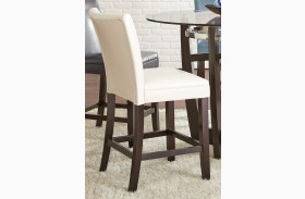 Matinee White Bonded Leather Counter Chair Set of 2
