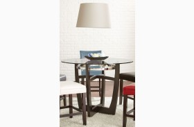 Matinee Glass Top Round Counter Height Dining Table