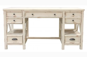 Nantucket Vintage Burnished Artisanal White Writing Desk