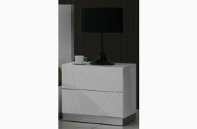 Naples White Lacquer Nightstand