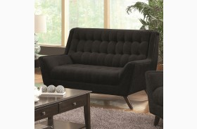 Natalia Black Loveseat