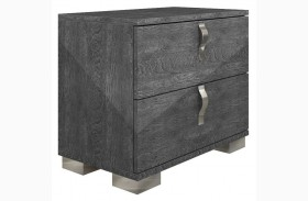 Vivente Noble Grey Birch High Gloss Nightstand