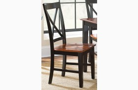 Kingston Oak and Black Side Chair Set of 2