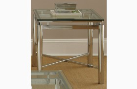 Nova Glass Top Rectangular End Table