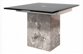 Ritz Onyx Rectangular Extendable Pedestal Dining Table