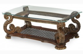 Oppulente Sienna Spice Rectangular Cocktail Table