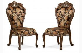 Oppulente Sienna Spice Side Chair Set of 2