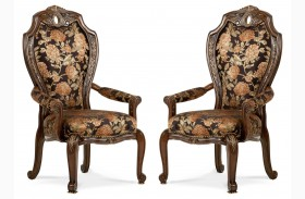 Oppulente Sienna Spice Fabric Arm Chair Set of 2