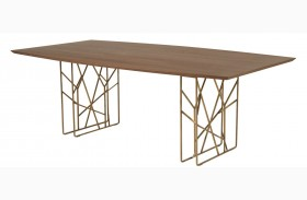 Cleo Dark Walnut Oro Dining Table