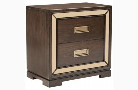 Chrystelle Cognac 2 Drawer Nightstand