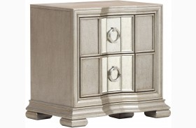 Couture Silver Nightstand