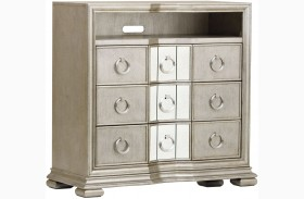 Couture Silver Media Chest
