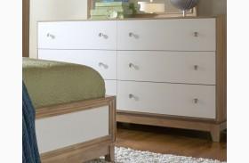 Hashtag Fun White Glaze Drawer Dresser