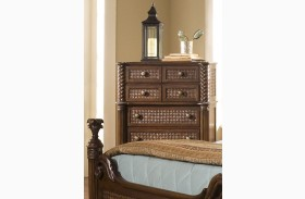 Palm Court II Coco Brown 7 Drawer Chest