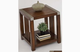 Mason Hills Medium Ash Rectangular End Table