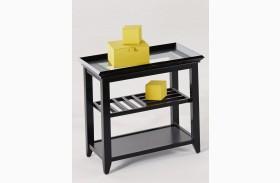 Sandpiper Black Rectangular End Table