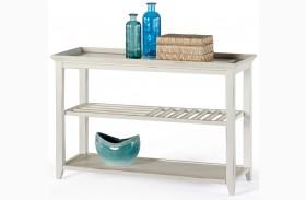 Sandpiper II White Sofa/Console Table