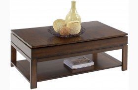 Miramar Cherry Veneer Sliding-Top Cocktail Table