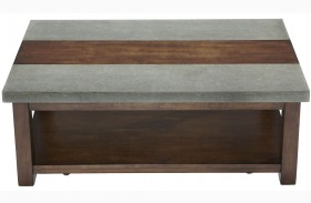 Cascade Nutmeg Birch Rectangular Cocktail Table