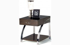 Showplace Cappuccino Rectangular End Table