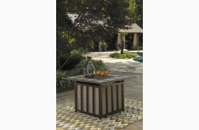 Wandon Beige and Brown Square Fire Pit Table