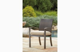 Moresdale Brown Outdoor Chair Set of 4
