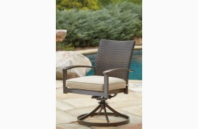 Moresdale Brown Swivel Chair Set of 2