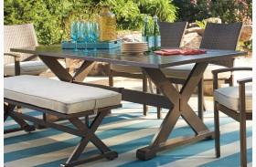 Moresdale Brown Outdoor Rectangular Dining Table