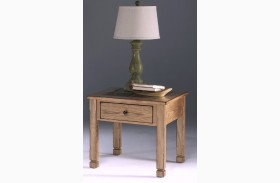 Rustic Ridge Elm Square Lamp Table