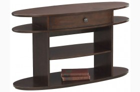 Metropolian Dark Cherry & Birch Sofa/Console Table