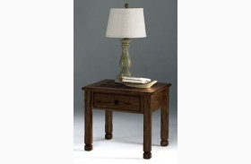 Rustic Ridge ll Dark Birch Square Lamp Table