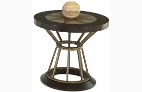 Stargaze Concrete Round End Table