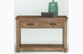 Boulder Creek Antique Pecan Sofa/Console Table