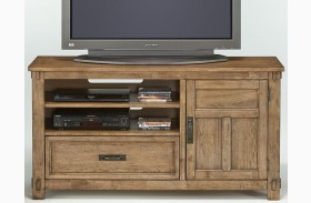 Boulder Creek Antique Pecan Media Console