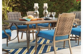 Partanna Blue and Beige Rectangular Dining Table