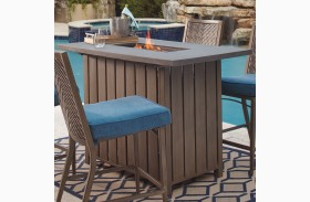 Partanna Blue and Beige Bar Table