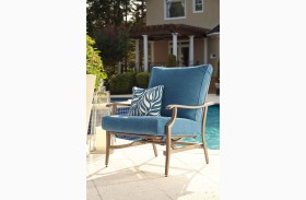 Partanna Blue and Beige Motion Lounge Chair Set of 2