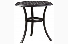 Tanglevale Burnt Orange Outdoor Round End Table